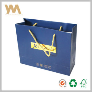 Blue Color Brand Cosmetics Shopping Paper Bag pictures & photos
