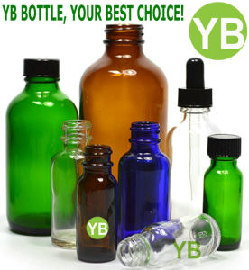 0.5oz/15ml, 1oz/30ml, 2oz/60ml, 4oz/120ml Amber/Green/Blue/Clear Boston Round Glass Bottle Manufacturer