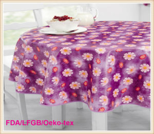 Cheap PVC Printed Tablecloth in Roll for Wholesale Factory pictures & photos