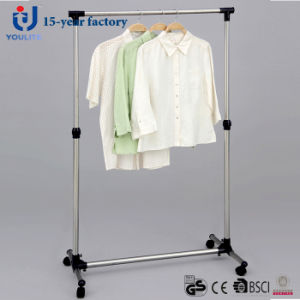 Stainless Steel Telescopic Single Rod Clothes Hanger pictures & photos