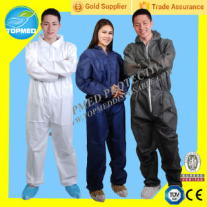 Disposable Coverall Manufacrtory Wholesale Lowest Price Coveralls / Work Clothes/Jump Suit/Painting Gown pictures & photos