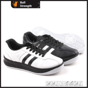 Casual Leather Shoe with PU Injection Outsole (SN5158) pictures & photos