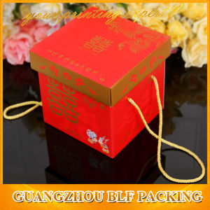 Foldable Cardboard Box with Rope Handle pictures & photos