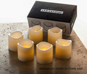 LED Flameless Wax Yellow Flickering Wick Scented Candle