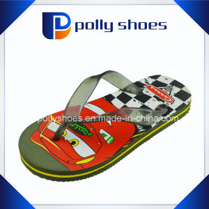 Plastic Cartoon Imprinted PE Child Flip Flop Sandal pictures & photos
