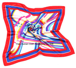 2016 Fashion Women Large Square Silk Scarf 60 by 60 pictures & photos