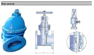 Ductile Iron Body and Metal Seat Gate Valve pictures & photos