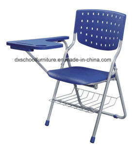 Popular Office Furniture Plastic Chair with Rotary Tablet pictures & photos