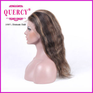 Highlight Color 100% Human Virgin Wavy Front Lace Wig, 100% Human Hair pictures & photos