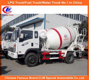 Rear Discharge Mini Concrete Mixer Truck for 3000liter Cement Mixer pictures & photos