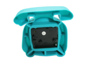 Creative Portable Telephone Shape Fluorescence Color Silicone Mini Alarm Desk Clocks pictures & photos