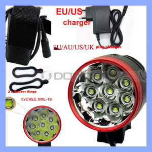 18650 Rechargeable 12000lm 8 CREE Xml T6 LED Bike Light pictures & photos