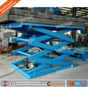 1ton Manual Cargo Hydraulic Stationary Platform Scissor Lift for Sale pictures & photos