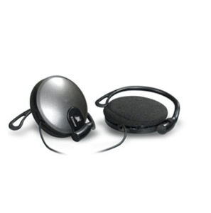 Black Wired Stereo Headphone Earphone Earhook