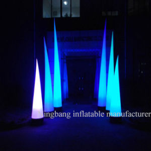 Inflatable LED Cone Inflatable Lighting Cone Pillar for Decoration