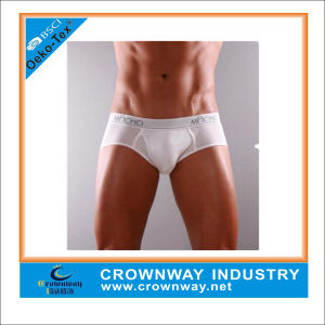 High Quality Men′s Cotton Sex Brief with Custom Logo pictures & photos