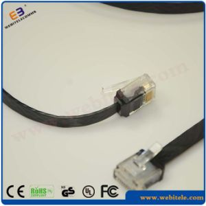 24AWG UTP CAT6A Flat Network Patch Cord pictures & photos