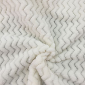 100% Polyester Wave 4 Jacquard Flannel Fleece pictures & photos