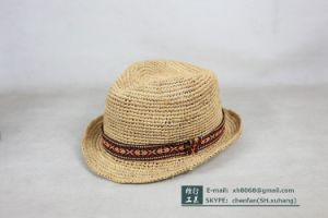 Trilby Raffia Hat (OT-XH8030) pictures & photos