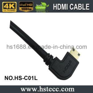 High Speed Right Angle\ Left 90 Degree Mini HDMI Cable V2.0 V1.4 for DVD HDTV