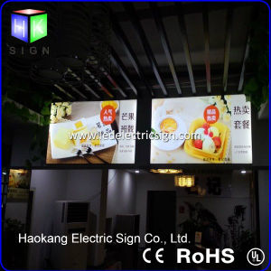 LED Poster Aluminum Fabric Frame Light Box with Back Lit LED Menu Board pictures & photos