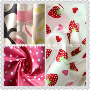 High Quality Digital Printing Polyester Satin Fabric pictures & photos