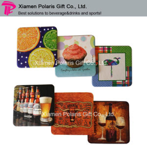 Photographic Printing Absorbent Paper Coaster for Beer Advertising pictures & photos
