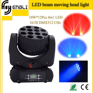 Stage 12*10W 4in1 LED Moving Head Light for Dyeing Effect pictures & photos