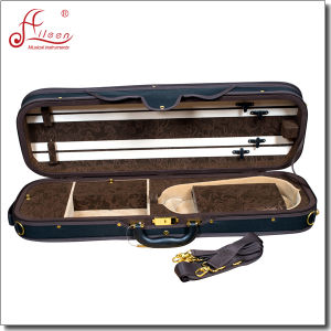 Professional Deluxe Foamed Oblong Shape Oxford Twill Violin Case pictures & photos