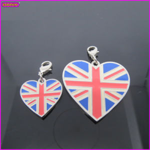 Heart Shape National Flag of The United Kingdom Charm (17230) pictures & photos