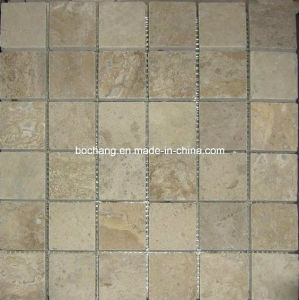 Nice Travertine Mosaic Tiles for Wall Panel pictures & photos