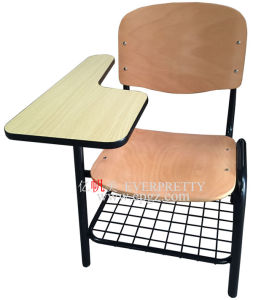 School Furniture Classroom Wooden Sketching Chairs with Folded Writing Pad pictures & photos