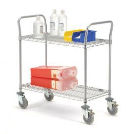 Adjustable NSF Hospital Medical Storage Metal Cart pictures & photos