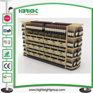 Supermarket Wooden Wine Display Rack pictures & photos