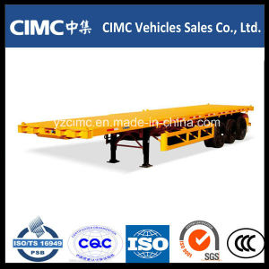Cimc 3 Axle Flat Bed Container Semitrailer pictures & photos