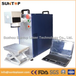 10W 20W 30W Metal and Non-Metal Fiber Laser Marking Machine for Ring Plastis PVC iPhone Case pictures & photos