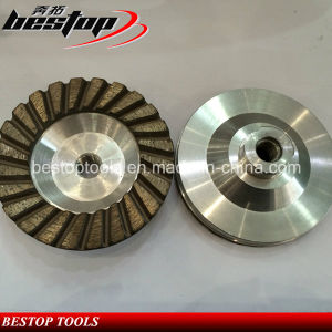 4 Inch Stone Grinding Aluminum Matrix Continuous Diamond Cup Wheel pictures & photos