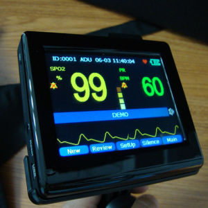 Touch Screen Color TFT Handheld Pulse Oximeter with Free Software (PM-60A) -Fanny pictures & photos
