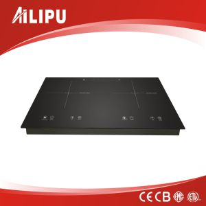 ABS Housing Desktop Double Burns Induction Cooker with Infrared Cooker 4kw pictures & photos