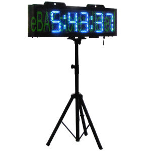 """8"""" 6 Digits Double Sided Blue Color Running Events Clock with Tripod pictures & photos"""