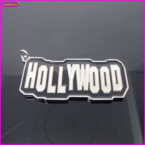Hollywood Flag Logo Tag Custom Metal Charm (15112) pictures & photos