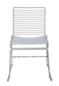 Modern Metal Dining Stackable Side Steel Wire Chair pictures & photos