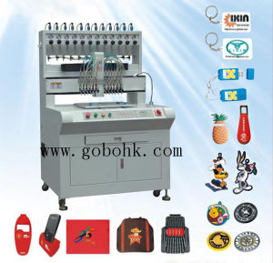 Best Cost-Efficiency PVC Keychain Molding Machine PLC Controlling System 12 Colors pictures & photos