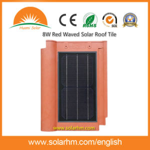 8W Red Waved Solar Roof Tile pictures & photos