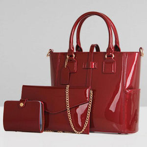 High-End Quality PU Designer Handbags Leather Ladies Bag Set (SY7631) pictures & photos