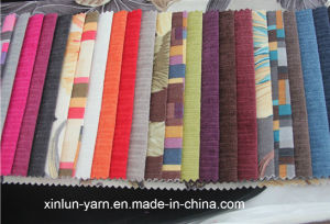 High Quaity Plain/Printing Linen Polyester Fabric for Sofa pictures & photos