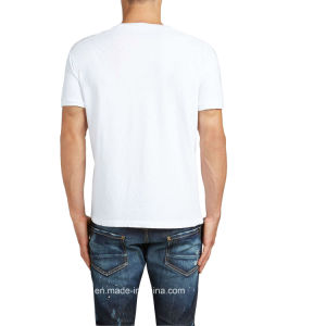 White Mens Short Sleeves Cotton T-Shirt (A029) pictures & photos