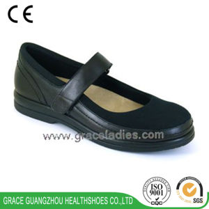 Women Casual Leather Shoes Fashion Design Depth Comfortable Shoes with Spandex Material pictures & photos