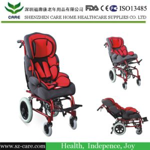 Self-Transporting Pediatric Wheelchair with Folding Back & Dual Brakes for Kids pictures & photos