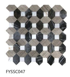 2016 Latest Building Material Hexagonal Mosai Stone Tile of Floor Tile (Fyssc042) pictures & photos